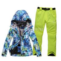 Ski suit set Women underwear single and double ski suit thermal windproof breathable ski suit