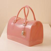 2014 women's handbag candy color neon bucket handbag leather handbag shoulder bag cross-body women's plastic handbag