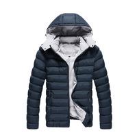 2014 Down&Parkas Hot-selling winter hooded jacket  wool warm coat solid men jacket outwear high quality