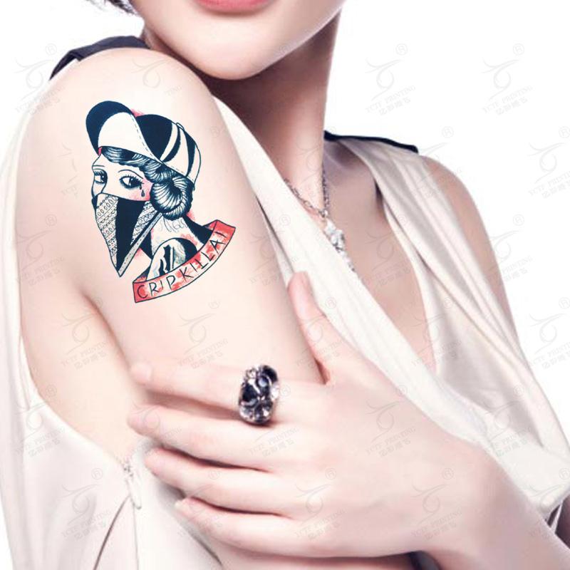 Waterproof Temporary Tattoo Beauty Girl Pattern Old School Tattoos Fake Tatoo Sticker Removable(China (Mainland))