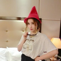 2014 brief all-match pointed toe knitted hat autumn and winter magic hat