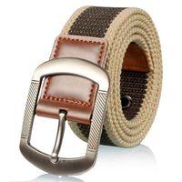 100cm 110cm 125cm Men's Belts Fashion Casual men belt buckle canvas real leather fashion canvas belt for men,drop shipping