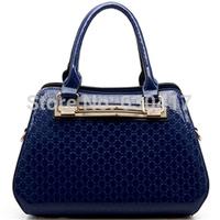 2014 fashion japanned leather women's handbag female shoulder bag patent leather candy color bag messenger bag