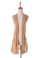 Free shipping 2014 autumn sweater vest female cardigan medium-long thin sweater outerwear