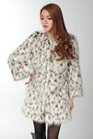 Faux outerwear fox fur wool fur coat fur women's medium-long outerwear