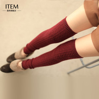 Free Shipping Rabbit wool kneepad ankle sock autumn and winter over-the-knee piles of socks boots leg cover 2 double sweety Sock