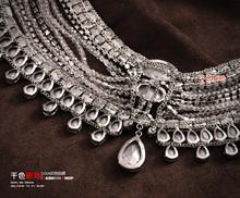 2014 Luxury rhinestone wedding necklace marriage accessories bride shoulder chains crystal bodychains