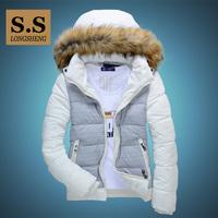 Wadded jacket  outerwear male cotton-padded jacket winter thickening coat teenage cotton-padded jacket hoodie