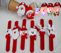 Factory selling cheap wholesale Christmas LED bracelet christmas hand ring christmas cartoon gift Christmas