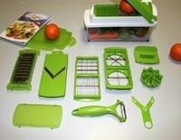 12pcs/set Multifunctional  grater Vegetable dicer with S/S blade Chopper Peelers Food Slicer  fruit cutter