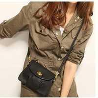 Lock fashion lady one shoulder inclined bag, hand bag mini bag   ,free  shipping