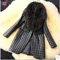Free shipping, 2014 the new imitated mink fur coat heavy hair collar fur clothing in the lady's long coat and cotton