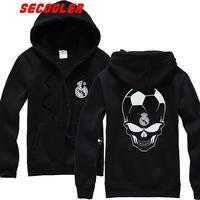 Scooler spring real madrid men's fans fleece zipper sweatshirt coat