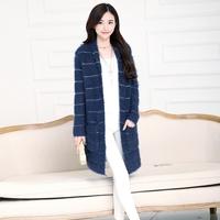 Sweater 2014 loose long sweater fashion design full sleeve cardigan outerwear female