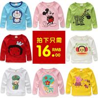 2014 autumn cartoon boys clothing girls clothing baby long-sleeve T-shirt tx-3963 basic shirt
