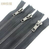 High quality 5# copper metal black tape 20cm close-end  zipper fit clothes pocket cuff trousers ca140