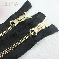 2pieces fashion metal 5# 80cm black tape double open two-way zipper fit clothes down coat ca139