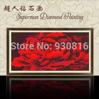 5D  resin square Diamond embroidery Diamond paste needlework DIY diamond painting Red peony