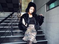 faux fur coat winter jacket  long and short fur outerwear short design batwing sleeve zip overcoat 9606