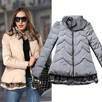 Hot new European and American fashion women's cotton Slim winter jacket coat. Free Shipping