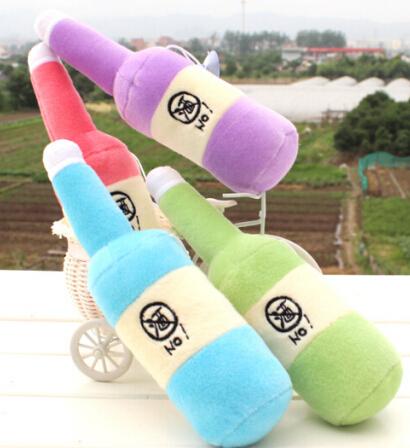 free shipping 2014 creative beer bottle stuffed toy & dolls plush toy 25cm wedding gift toys Activities Premium 4pcs/lot(China (Mainland))