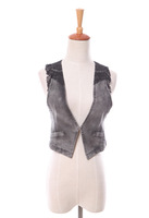 Free shipping Vest female fashion spring and summer 2014 slim denim small vest waistcoat vest