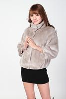 Short design 2014 faux fur coat fox fur three quarter sleeve outerwear