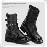 2014Winter  male combat boots rivet boots  martin boots