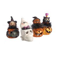 Resin craft decoration fashion halloween decoration pumpkin cartoon decoration pumpkin lamp
