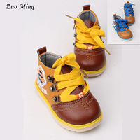 New 2015 Boys leather children Comfort Moccasins Students child casual single shoes 2 Color Size(US): 4.5 - 6.5 Free shipping