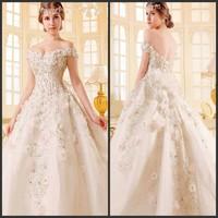 2014 luxury be full of crystal sparkling sexy wedding dress bandage tube top train wedding dress bride wedding dresses