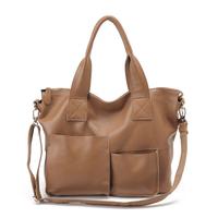 Genuine leather women's handbag 2014 shoulder bag leather bag multi-pocket women's cross-body handbag