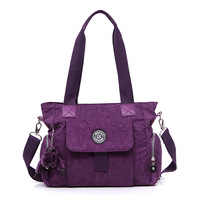2014  light waterproof nylon one shoulder handbag women's handbag