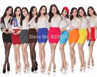All-match elastic slim hip A-line skirt short  Autumn Winter  Slim Fit Womens Formal Midi Skirt Saia Femininas