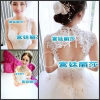 2014 sparkling bandage train wedding dress bride ultimate luxury crystal wedding latest bandage trailing princess wedding