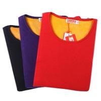 Wire thermal underwear set women's autumn and winter plus velvet thickening golden flower thermal underwear