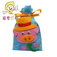 Birthday gift croppings cloth diy handmade material kit pig purse