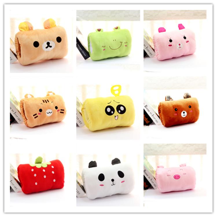 Animal dos desenhos animados mão quente travesseiro / handle almofada / almofada para tirar soneca / presente de natal(China (Mainland))