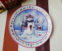 Ceramic 8 flat cake mug-up plate dish fashion western style decoration rustic+Free shipping