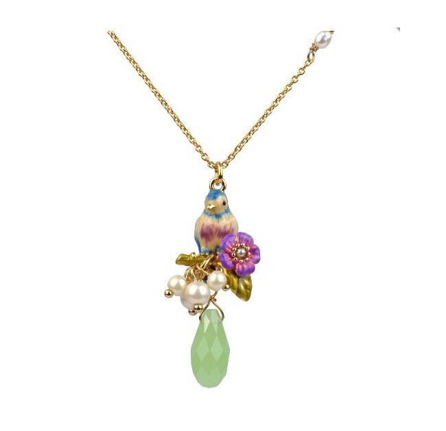Great les nereides pearl purple necklace drop chain female(China (Mainland))
