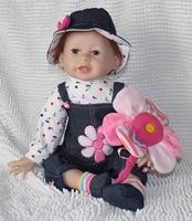 Reborn baby dolls 50 cm silicone reborn baby dolls vinyl baby doll gift Free shipping