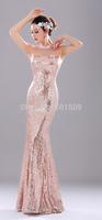 see through veil shoulder rhinestone full sequins rhinestone V neck cross back mermaid ball long dress/evening dresses
