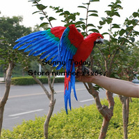 Artificial Kumgang Parrot Simulated Feather Bird Home Decoration Living Room Furnishing Articles Party Ornament Photography Prop