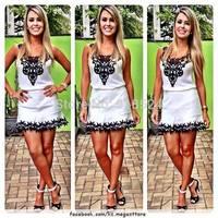 New 2015 Summer Dress Women Fashion White Dress With Black Cute Lace Vestidos De Fiesta Sexy Lace Floral Crochet Chiffon Dresses