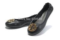 Fashion fashion flat genuine leather single shoes plus size women's shoes four seasons  single shoes