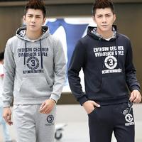 Fall  Hedging  Men Suit Sport Cotton  Letters  Digital   Men Clothing Set  Free shipping