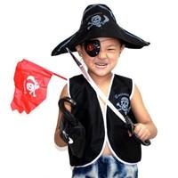 Fun little Halloween masquerade clothing children's stage performance clothing children's pirate set seven piece set
