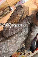 Fashion irregular 2014 winny  full-body paillette fashion cutout pullover o-neck long-sleeve sweater
