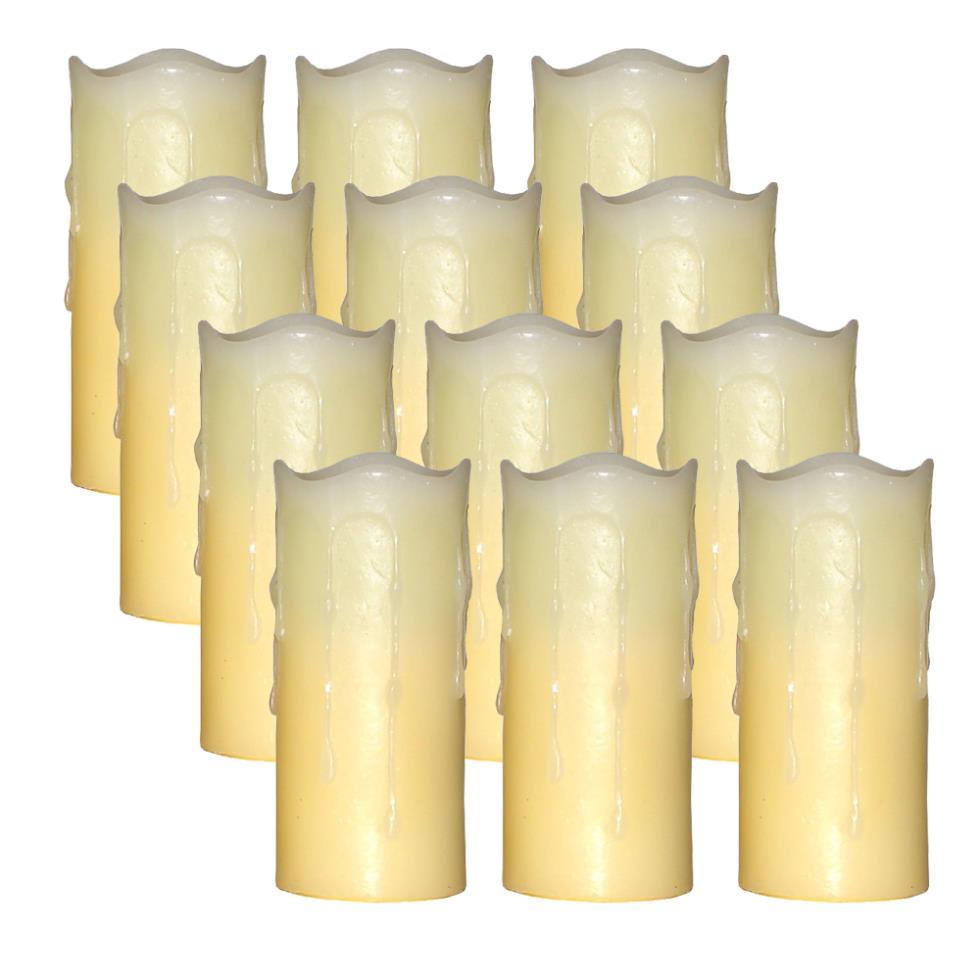 Real Wax Votive Led Pillar