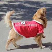 Hot models! Big dogs warm clothes hello kitty print large dog coat fleece inside for golden retriever Samos SZ 20-30